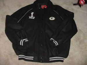 NFL Green Bay Packers Superbowl 45 Champions Embroidered Jacket Size NWT