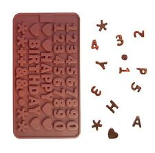 HAPPY BIRTHDAY ROSA SILICONE sapone cioccolato JELLY Cake Decorazione muffa vassoio