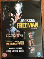 Morgan Freeman Kiss The Filles / Along Came A Spider / Sum de All Fears GB DVD