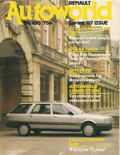 Renault Autoworld Magazine No 100 Spring 1987 UK Brochure R5 R21 Savanna GTA