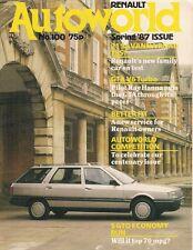 Renault Autoworld Magazine No 100 Spring 1987 UK Brochure R5 R21 Savanna GTA