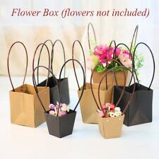Paper Bags Flower Box  with Handle  Waterproof Bouquet Florist Gift Packing Box