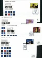 LOT 65198  UK UNIVERSITY ESSEX LEICESTER SOUTHAMPTON 4  FDC COVERS GREAT BRITAIN