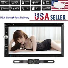 Backup Cam+7 inch Double Din Car Stereo Radio DVD mp3 Player Bluetooth Hot sale!