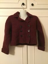 Abercrombie & Fitch  Women's Burgundy Wool Cardigan Small
