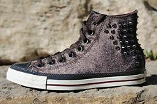 06 Rare Converse All-Star Studded Velvet Reflective Brown Shoes Women's Size 9