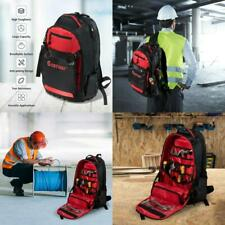 Jobsite Backpack Tool Storage Bag Heavy Duty Construction Book-Bag 26 Pockets US