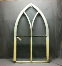 Large Antique Gothic 5 Lite Arched Peaked Top Window Sash 36x62 Vtg 111-20B