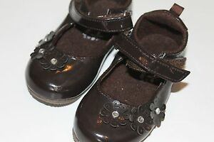 OKIE-Dokie TODDLER GIRL SIZE 5 CHOCOLATE BROWN MARY JANE SHOES
