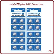 Lot 20 piles boutons AG13/LR44 alcaline Everactive, livraison rapide et gratuite