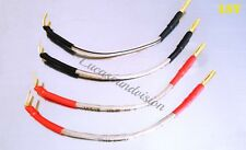 NEW OEHLBACH T-1063 2x4mm OFC SPEAKER JUMPER-LINKS CABLES x 4
