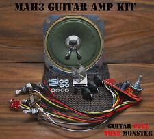 "TONE MONSTER MAH3 Guitar Amp KIT 3W Volume Tone Overdrive HDPH 4"" SPK Cigar Box"