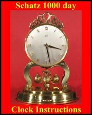 Copy of original instruction leaflet for Schatz 1000 Day clock