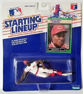 1989 Starting Lineup Eric Davis Cincinnati Reds SLU Kenner Sports Figure ED003
