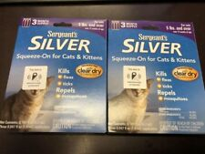 SERGEANT'S FLEA & TICK SQUEEZE-ON FOR CATS 2 PACKS PER ORDER 6 MONTH SUPPLY NEW