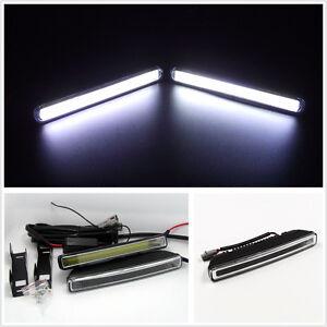 A Pair Super Bright 1800LM COB 6000K Xenon White LED Car Off-Road Fog Lights DRL