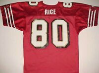 Jerry Rice #80 San Francisco 49ers NFL NFC West Youth Red Gold White Jersey L
