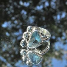Natürliche Echtschmuck-Ringe Aquamarin Innenvolumen (18,1 mm Ø)