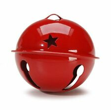 Large Red Jingle Bell - Christmas Decoration Vintage Shiny - 60mm Gift Xmas