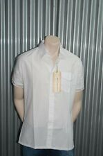 191 Unlimited S/S White Solid Button-Up Woven NWT M