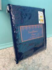 1 Quilted Euro Pillow Sham Casablanca Navy Blue 26�x 26� - New
