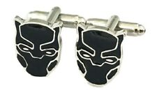 Marvel Comics Black Panther Character Mask Metal Enamel Cuff Links