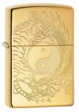 BRIQUET ZIPPO ESSENCE NEUF - TIGRE et DRAGON ( Yin Yang ) Original , Tempete