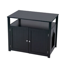 Pet Crate Cat Washroom Hidden Litter Box Enclosure Furniture Large House