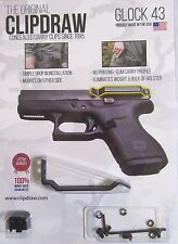 Clipdraw IWB Belt Clip for Glock 43 Concealed Carry w/o a Holster G43 G43-B