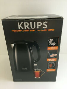 KRUPS Cool-touch Double Stainless Steel Cordless Kettle Black - New Open Box