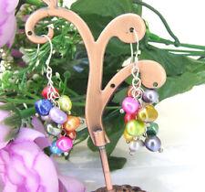 Charm mehrfarbigen Barock Süßwasser Perle Ohrringe
