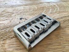 Chrome hardtail guitar bridge. 6 String through body version with mounting screw