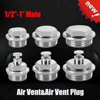 "1/4"" 3/8"" 1/2"" Manual Radiator Air Vent Bleed Ending Cap Plug Key Valve"