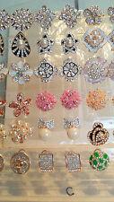 Joblot De 18 Pares Mixtas Diseño Diamante Aretes-nuevo al por mayor Lote C