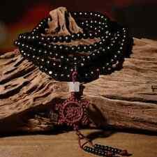 216 Cuentas De Madera Mala Meditación Buda Dharma Pulsera Collar boho Y Bolsa