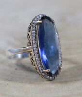 TURKISH HANDMADE STERLING SILVER 925K AND BRONZ SAPPHIRE RING SIZE 6,7,8,9