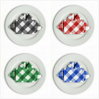 15 &17 in. Checkered Gingham Polyester Napkins(12/pack) Party picnic wholesale