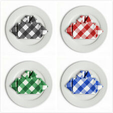 Bulk Sale 15 &17 in. Checkered Gingham Polyester Napkins(12/pack) 4 colors!