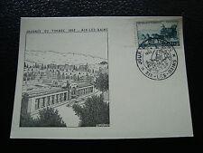 FRANCE - carte 8/3/1952 journee du timbre aix-les-bains  (cy10) (tache)