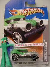 2011 i Hot Wheels Video Game SHELL SHOCK #235∞GREEN ; oh5 ∞1/64 diecast