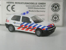 selten: Herpa Holland VW Golf 3 Politie Nederland Amsterdam in OVP