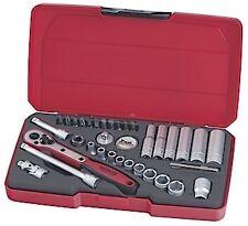 Teng Tools 36Pce 1/4 Drive Socket Ratchet Extension Tool Set & Case