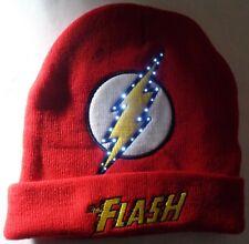 Beanie Winter Hat Cap Licensed DC Comics Flash Light Up LED CC