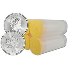 2021 Canada Silver Maple Leaf - 1 oz - $5 - 4 Rolls - 100 Coins in 4 Mint Tubes