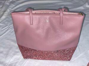 Kate Spade New York Ina Greta Court Glitter Crossbody Handbag - Dusty Peony