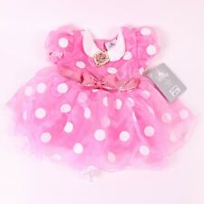Disney Baby Minnie Mouse Bodysuit Costume Pink Polka Dot Dress Outfit