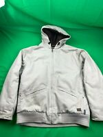 SAFTBAK INSULATED FULL ZIP HOODED BEIGE WINTER JACKET SIZE LARGE EUC