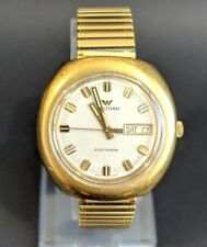 Waltham Electrodyne Electric Automatic Incabloc Vintage Swiss Made Men's Watch