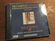 Ars subtilis ytalica - 1380-1410  [CD Album] WDR Mala Punica Memelsdorf Boeke