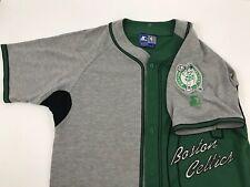 5f8a6eb0a872 RARE Vintage Starter Men s Boston Celtics Basebal-Style Jersey NBA Size  Large